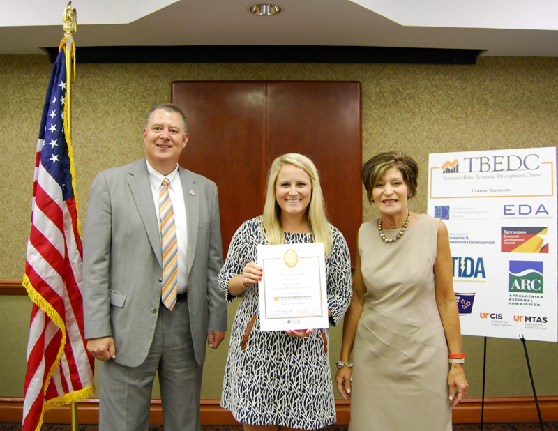 Obion Chamber Membership Director Completes  UT Economic Development Course