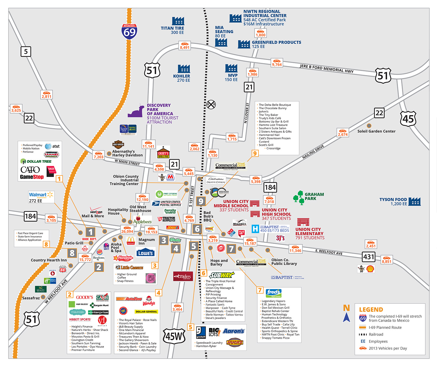 Retail Development Marketing Flyer map