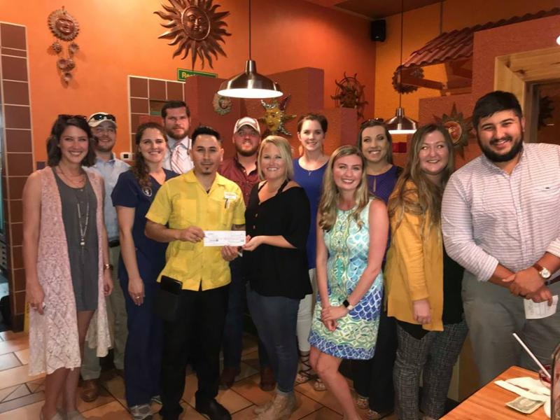 Don Sol Mexican Grill Donates to Young Professionals of Obion County