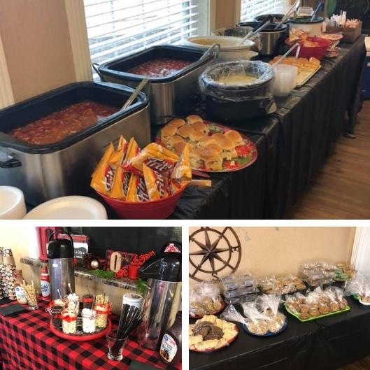 The wonderful spread provided by The Etheridge House & The Arbors for their annual Medical Appreciation Luncheon